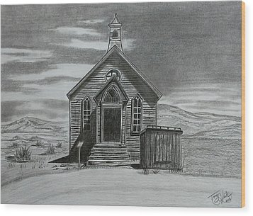 Church  At Bodie  Wood Print