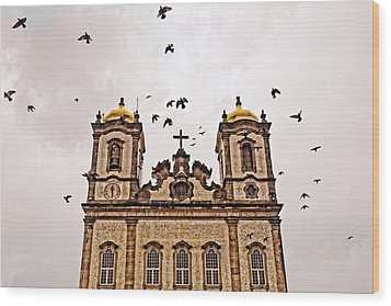 Wood Print featuring the photograph Church Birds by Kim Wilson