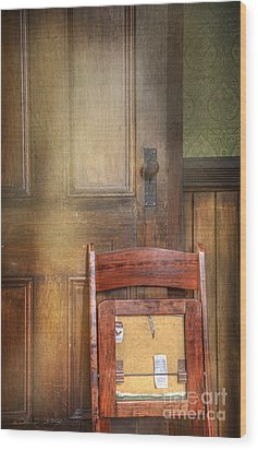 Church Chair Wood Print