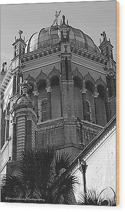 Church Dome Wood Print by Janice Spivey