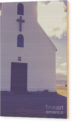 Wood Print featuring the photograph Church Iceland by Edward Fielding