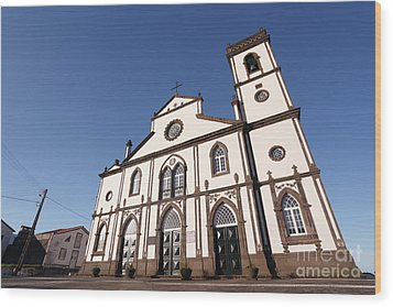 Church In Azores Islands Wood Print by Gaspar Avila