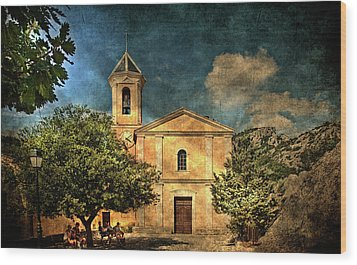 Church In Peillon Wood Print