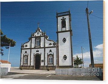 Church In The Azores Wood Print by Gaspar Avila