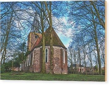 Church In Winsum Wood Print