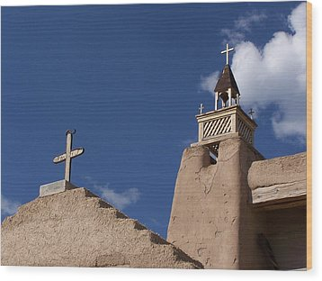 San Jose De Gracia Church, Las Trampas, N.m. Wood Print