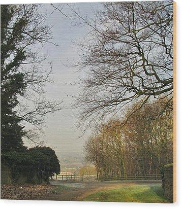Church Lane Wood Print