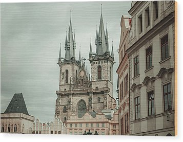 Wood Print featuring the photograph Church Of Our Lady Before Tyn by Jenny Rainbow