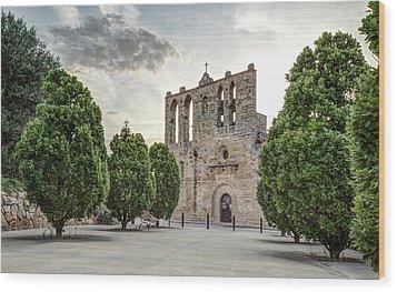 Church Of Sant Esteve In Peratallada Catalonia Wood Print