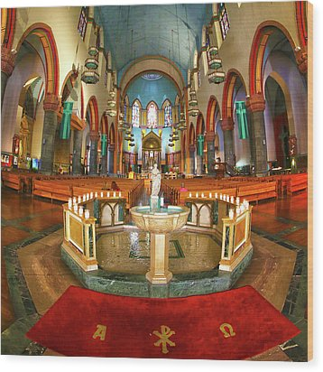 Wood Print featuring the photograph Church Of St. Paul The Apostle by Mitch Cat
