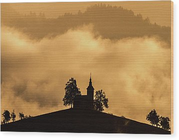 Wood Print featuring the photograph Church Of St. Thomas #2 - Slovenia by Stuart Litoff