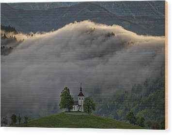 Wood Print featuring the photograph Church Of St. Thomas - Slovenia by Stuart Litoff