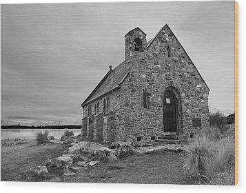 Church Of The Good Shepherd Wood Print by Andrea Cadwallader