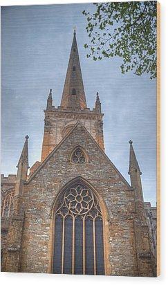 Church Of The Holy Trinity Stratford Upon Avon 1 Wood Print by Douglas Barnett