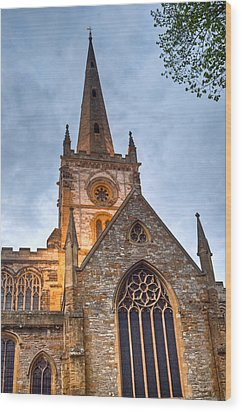 Church Of The Holy Trinity Stratford Upon Avon 2 Wood Print by Douglas Barnett