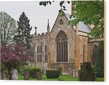 Church Of The Holy Trinity Stratford Upon Avon 3 Wood Print by Douglas Barnett