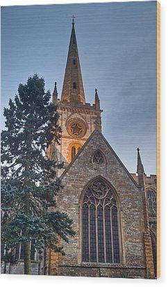 Church Of The Holy Trinity Stratford Upon Avon 4 Wood Print by Douglas Barnett