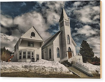 Wood Print featuring the photograph Church Of The Immaculate Conception Roslyn Wa by Jeff Swan