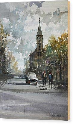 Church On The Hill Wood Print by Ryan Radke