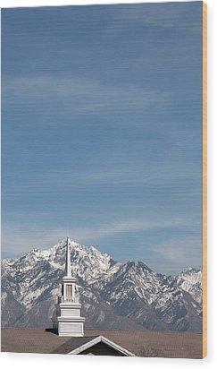 Church Steeple 4 Wood Print by Steve Ohlsen