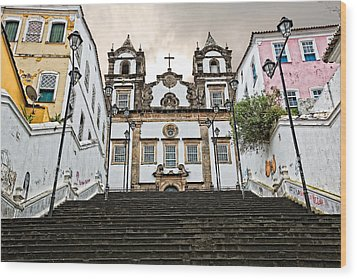 Wood Print featuring the photograph Church Steps by Kim Wilson