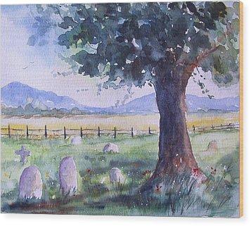 Churchyard Severn Stoke Wood Print by Susan Ryder