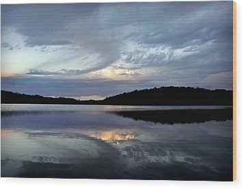 Wood Print featuring the photograph Churning Clouds At Sunrise by Chris Berry