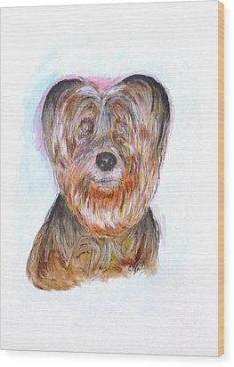 Ciao I'm Viki Wood Print by Clyde J Kell