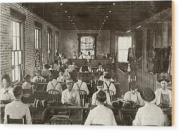 Cigar Factory, 1909 Wood Print by Granger
