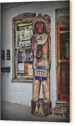 Wood Print featuring the photograph Cigar Store Indian by Paul Ward