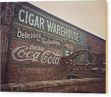 Cigar Warehouse Greenville Sc Wood Print by Kathy Barney