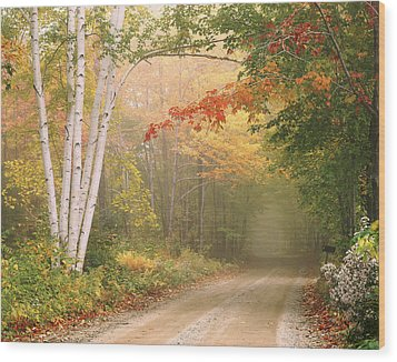 Cilley Hill Road In Underhill Vermont. Wood Print