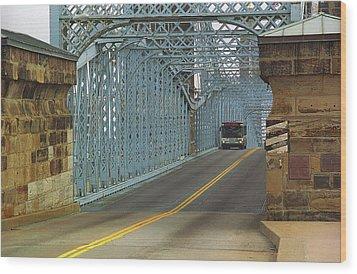 Cincinnati - Roebling Bridge 1 Wood Print by Frank Romeo
