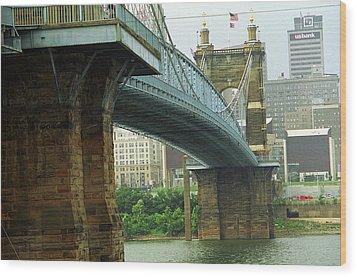 Cincinnati - Roebling Bridge 2 Wood Print by Frank Romeo