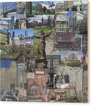 Wood Print featuring the photograph Cincinnati's Favorite Landmarks by Robert Glover