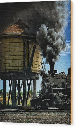 Wood Print featuring the photograph Cinders And Water by Ken Smith