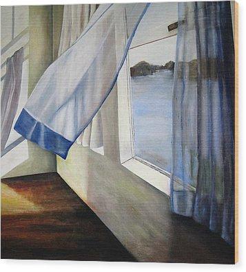 Cindy's Window Wood Print by Eileen Kasprick