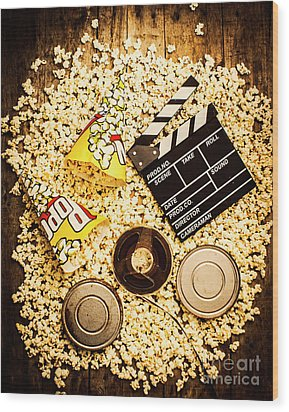 Cinema Of Entertainment Wood Print by Jorgo Photography - Wall Art Gallery