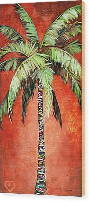 Cinnamon Palm Wood Print by Kristen Abrahamson