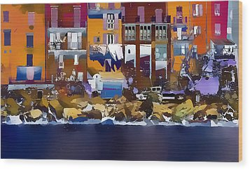 Cinque Terre  I Wood Print by Gareth Davies