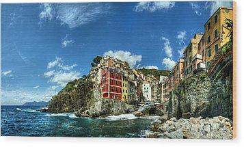 Cinque Terre - View Of Riomaggiore Wood Print