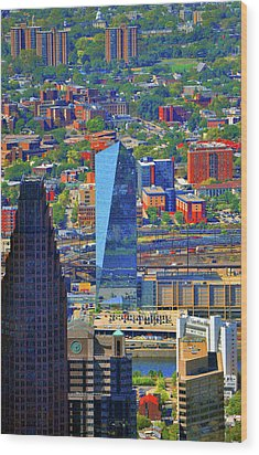 Wood Print featuring the photograph Cira Centre 2929 Arch Street Philadelphia Pennsylvania 19104 by Duncan Pearson