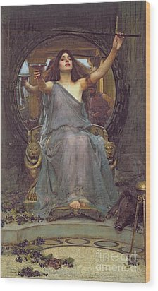 Circe Offering The Cup To Ulysses Wood Print by John Williams Waterhouse