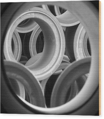 Circles 16 Wood Print by Ann Tracy