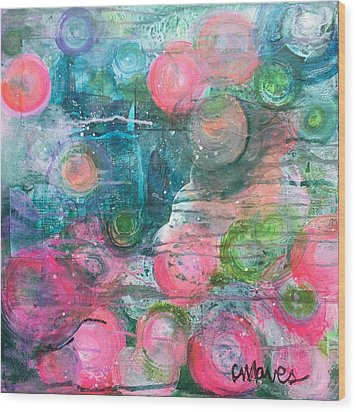 Wood Print featuring the painting Circles For San Marco  by Laurie Maves ART