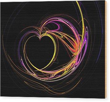 Circles Of Love Wood Print