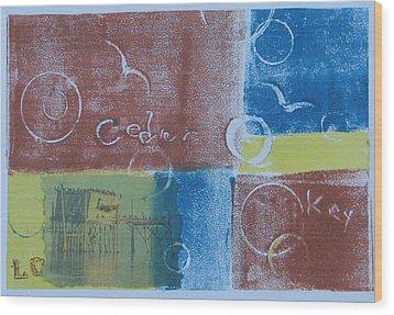 Circling The Key Wood Print by Libby  Cagle