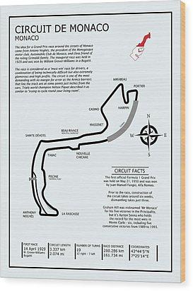 Circuit Of Monaco Wood Print by Mark Rogan