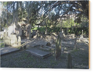 Circular Congregational Graveyard 1 Wood Print by Gordon Mooneyhan