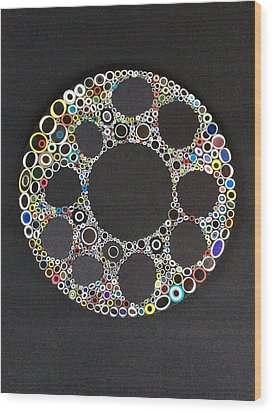 Circular Convergence Of Mutated Molecules Wood Print